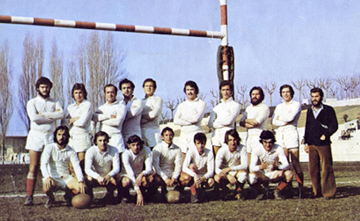 Equipo de Arquitectura Campeón de División de Honor en 1975, capitaneado por Andrés Zulet.