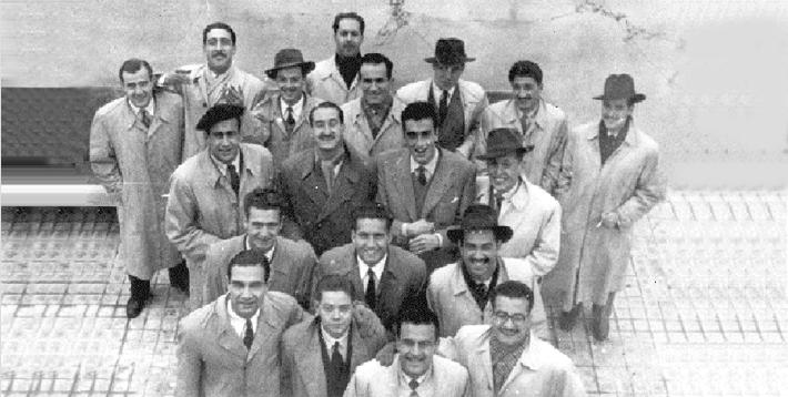 Equipo del Atlético de Madrid que derrotó a la Escuela en el Campeonato de Castilla y logró el acceso al Campeonato de España que lograría frente a la UD Santboiana en 1949.
